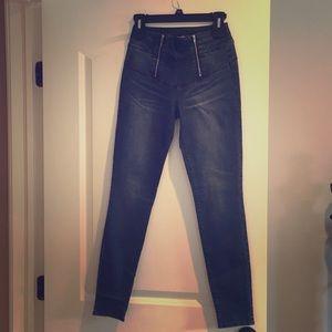 High rise skinny zipper jeans, never worn.